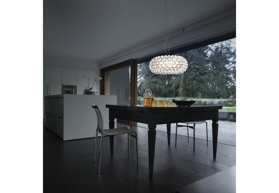 genoalamp foscarini caboche grande sospensione led trasparente. Black Bedroom Furniture Sets. Home Design Ideas